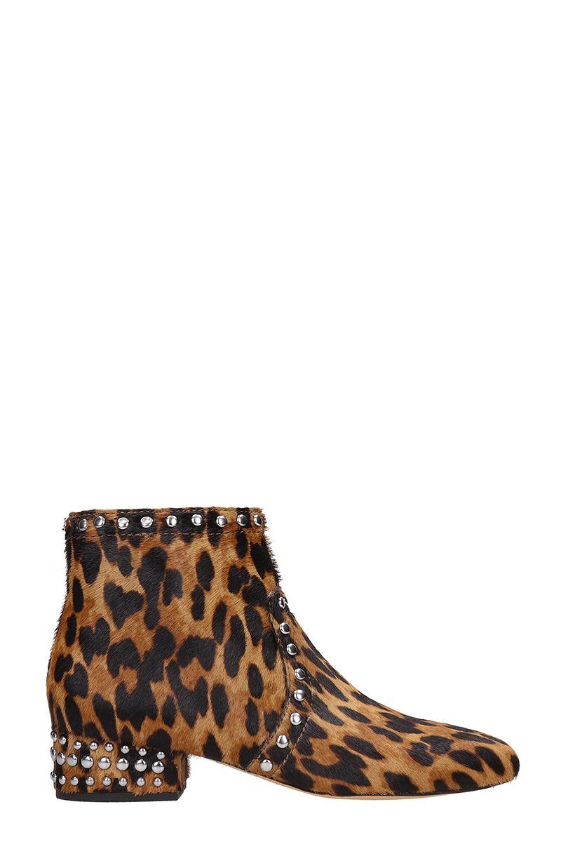 Sam Edelman Leopard Ponyskin Ankle Boots