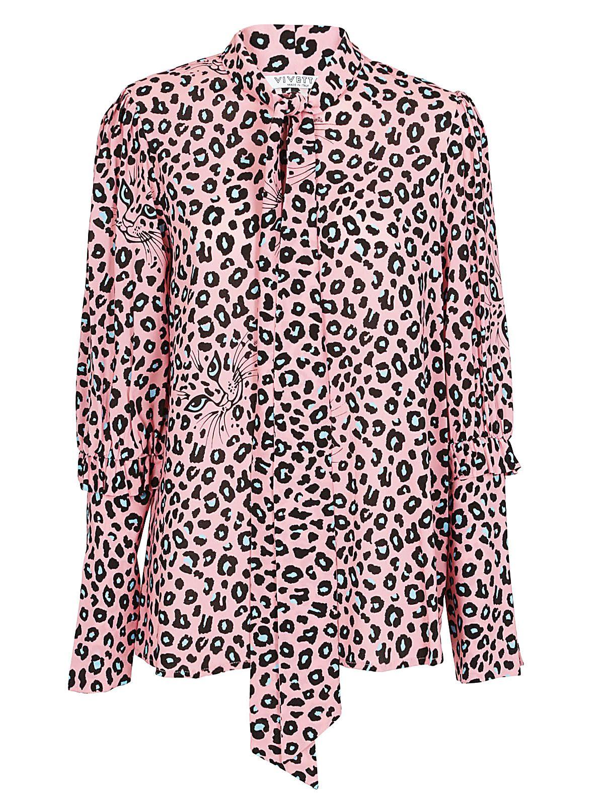 Vivetta Leopard Print Blouse