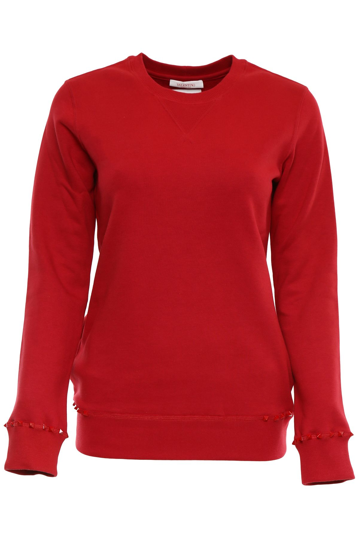 Valentino Rockstud Untitled Jersey Sweatshirt