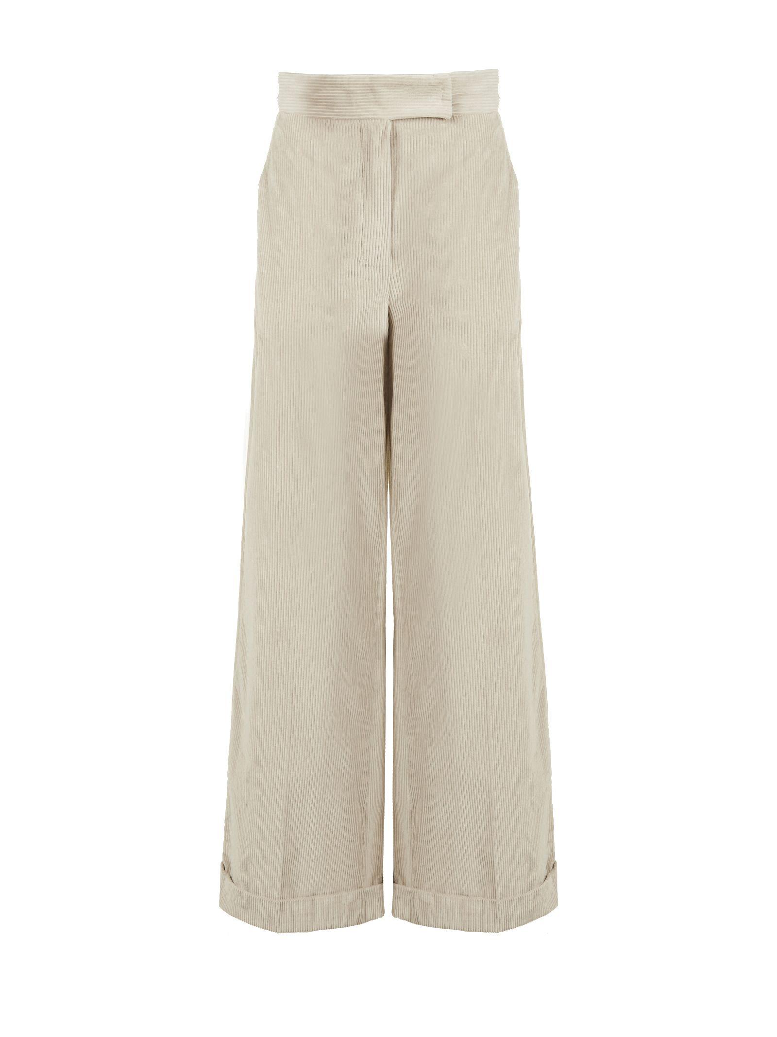 Max Mara Studio Cropped Wide Leg Trousers