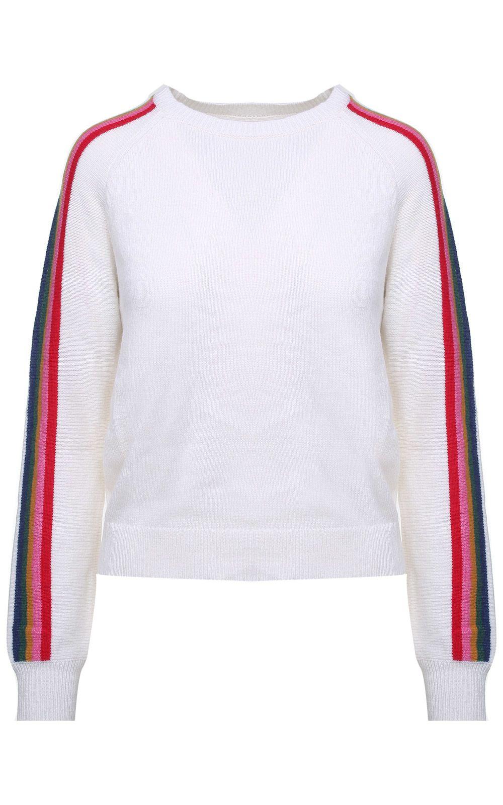Jardin des Orangers Striped Wool And Cotton-blend Sweater