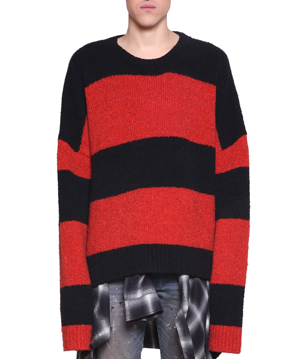 AMIRI Wool And Cashsmere Blend Striped Sweater