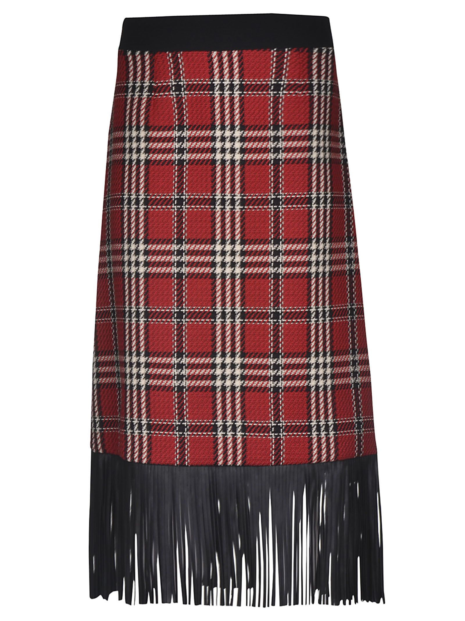 Fausto Puglisi Checkered Fringed Edge Skirt