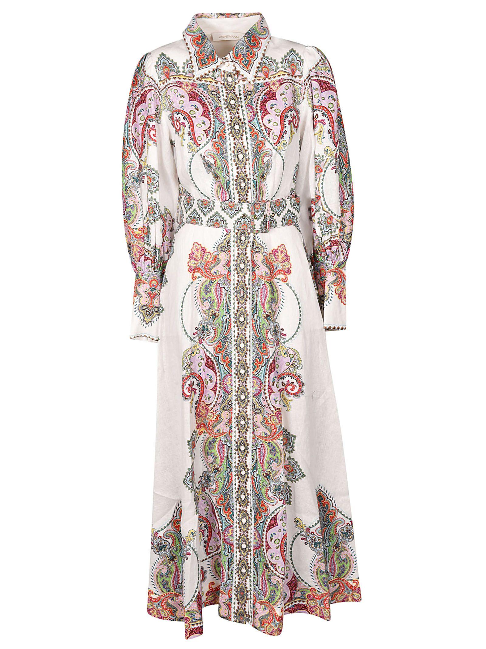 Zimmermann Dresses PAISLEY PRINTED SHIRT DRESS