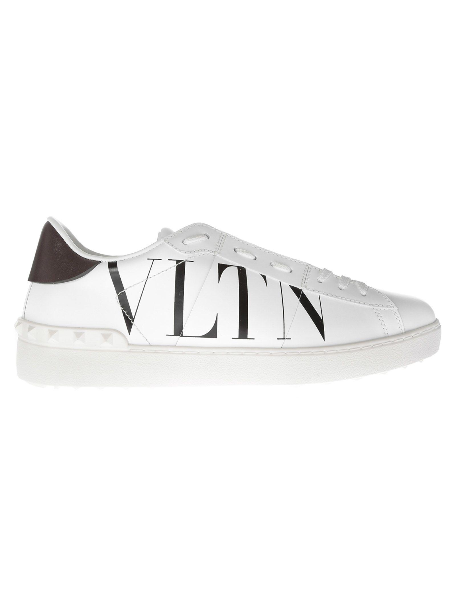 fd99bc17cb57 Valentino White Open Vltn Sneaker In Leather