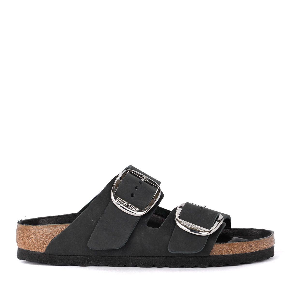 d21eba86c1f55 Arizona Big Buckle Black Leather Sandal - Premium. buckle slip-on slides.  Birkenstock