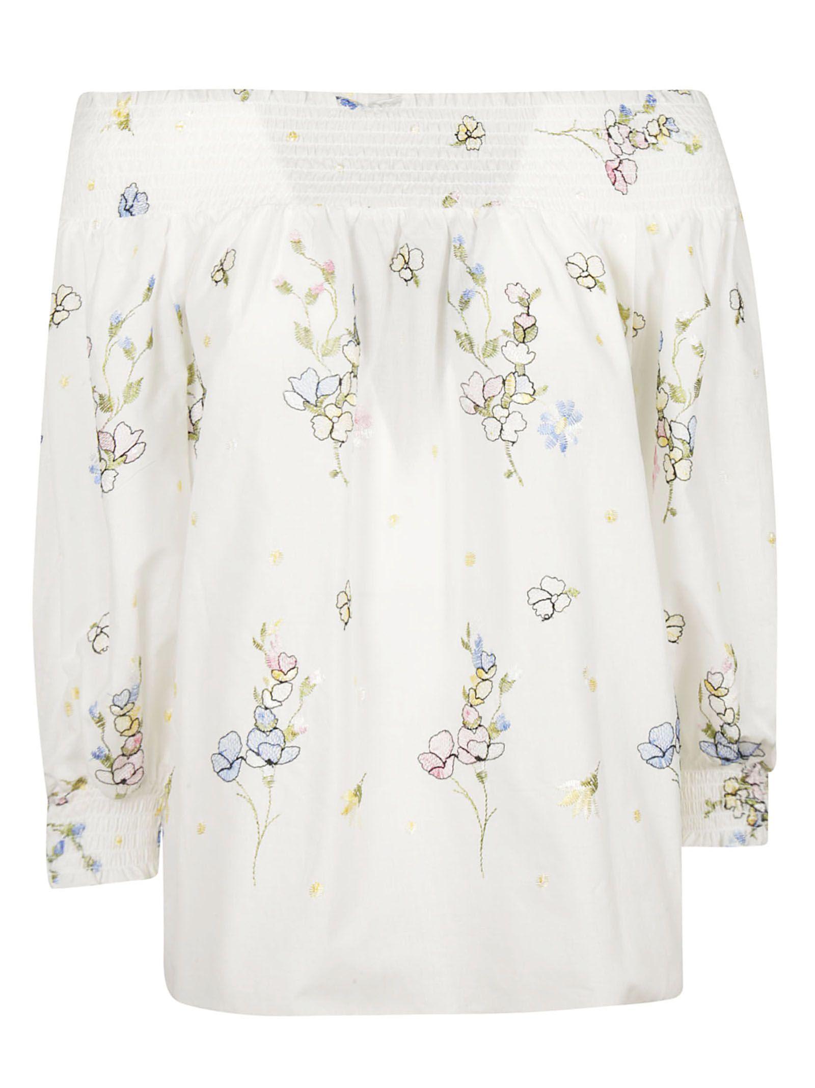 Blugirl Off-shoulder Floral Blouse