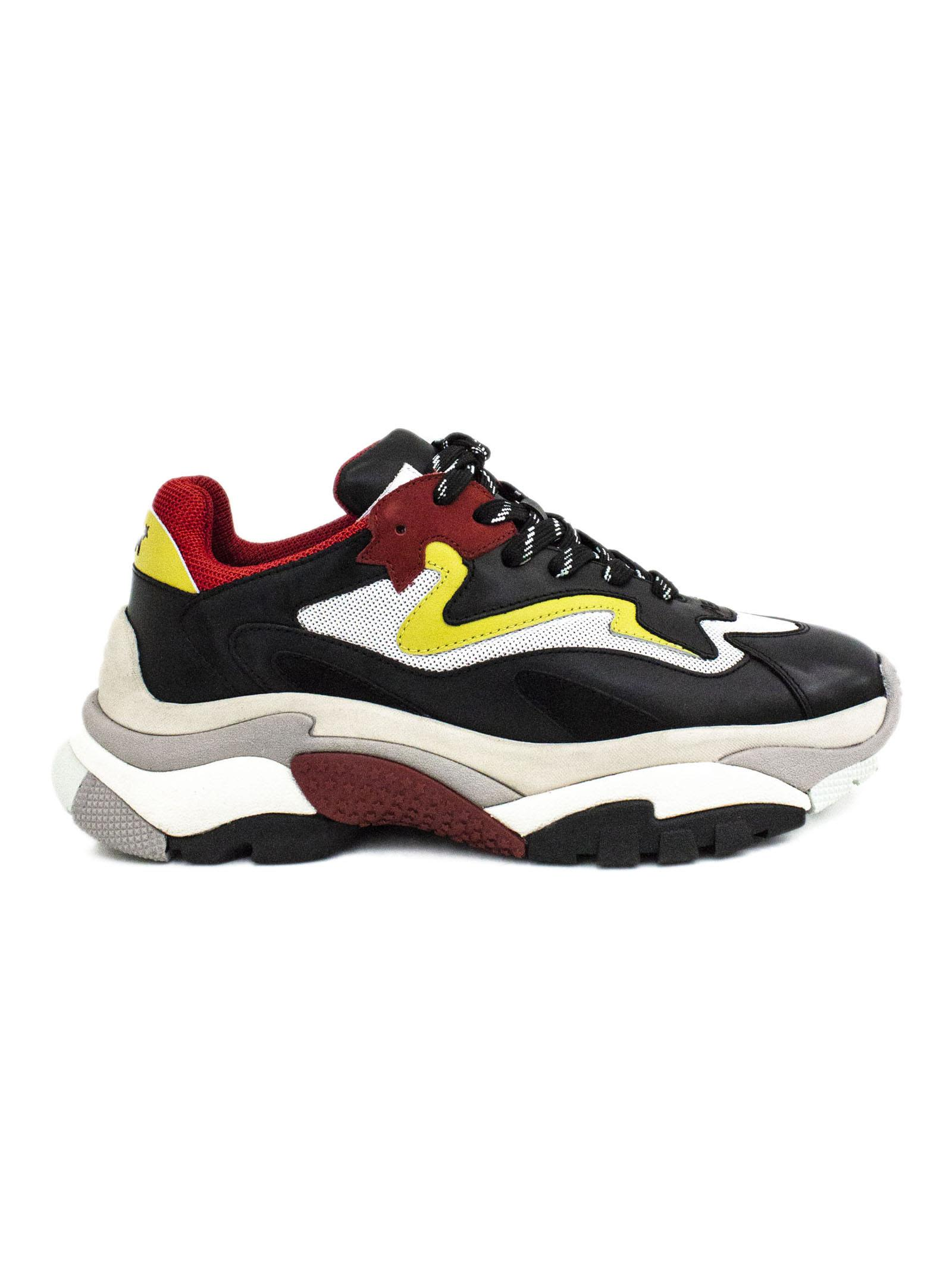 ash -  Multicolor Leather And Fabric Sneaker.