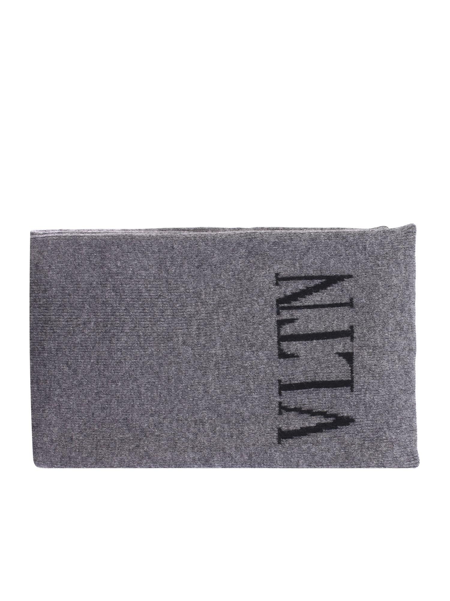 Valentino Garavani Grey Branded Scarf