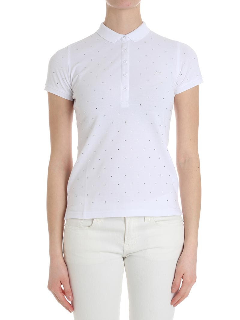 Sun 68 Cotton Blend Polo Shirt: