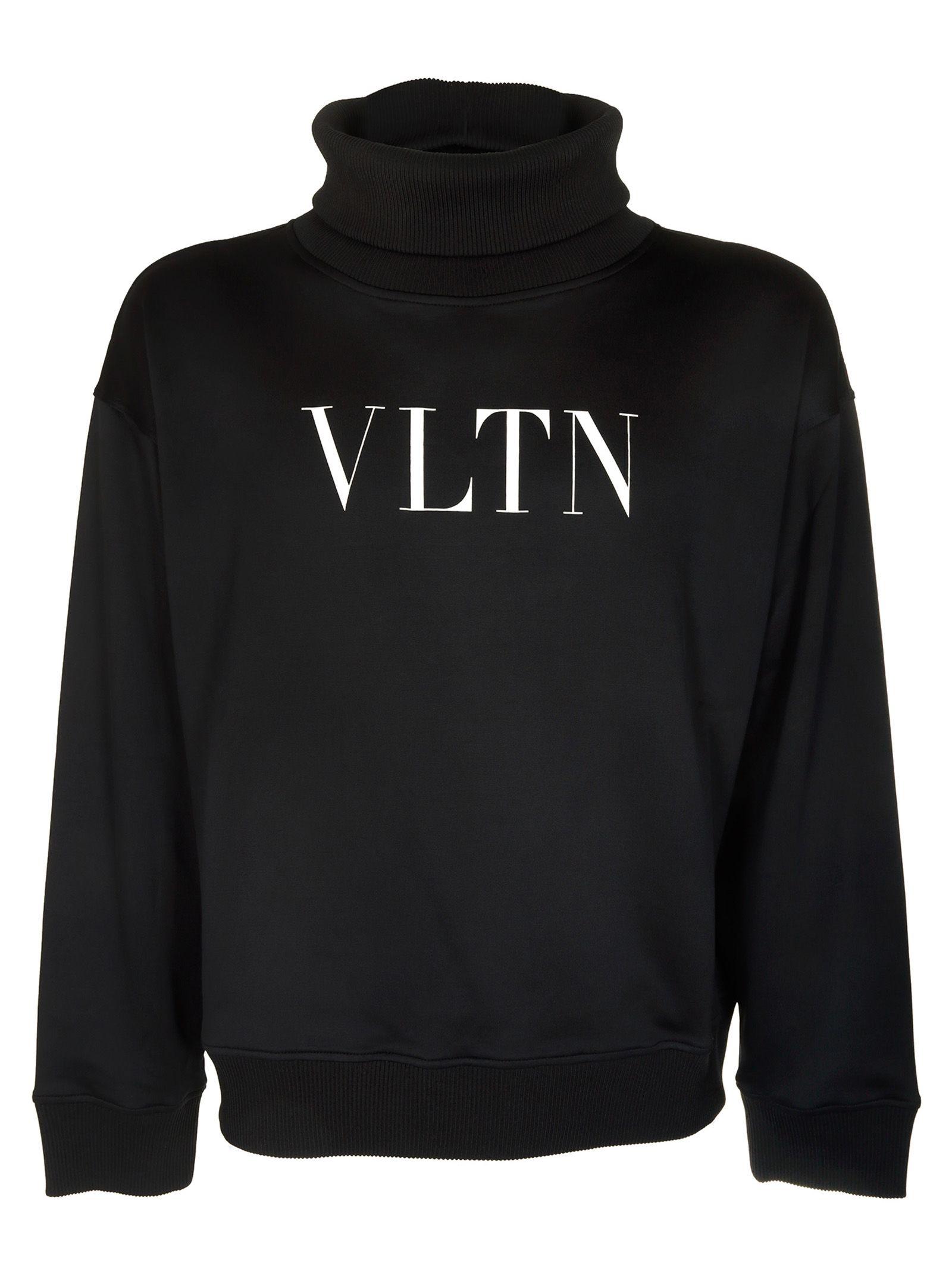 Valentino Roll Neck Vltn Logo Print Sweater