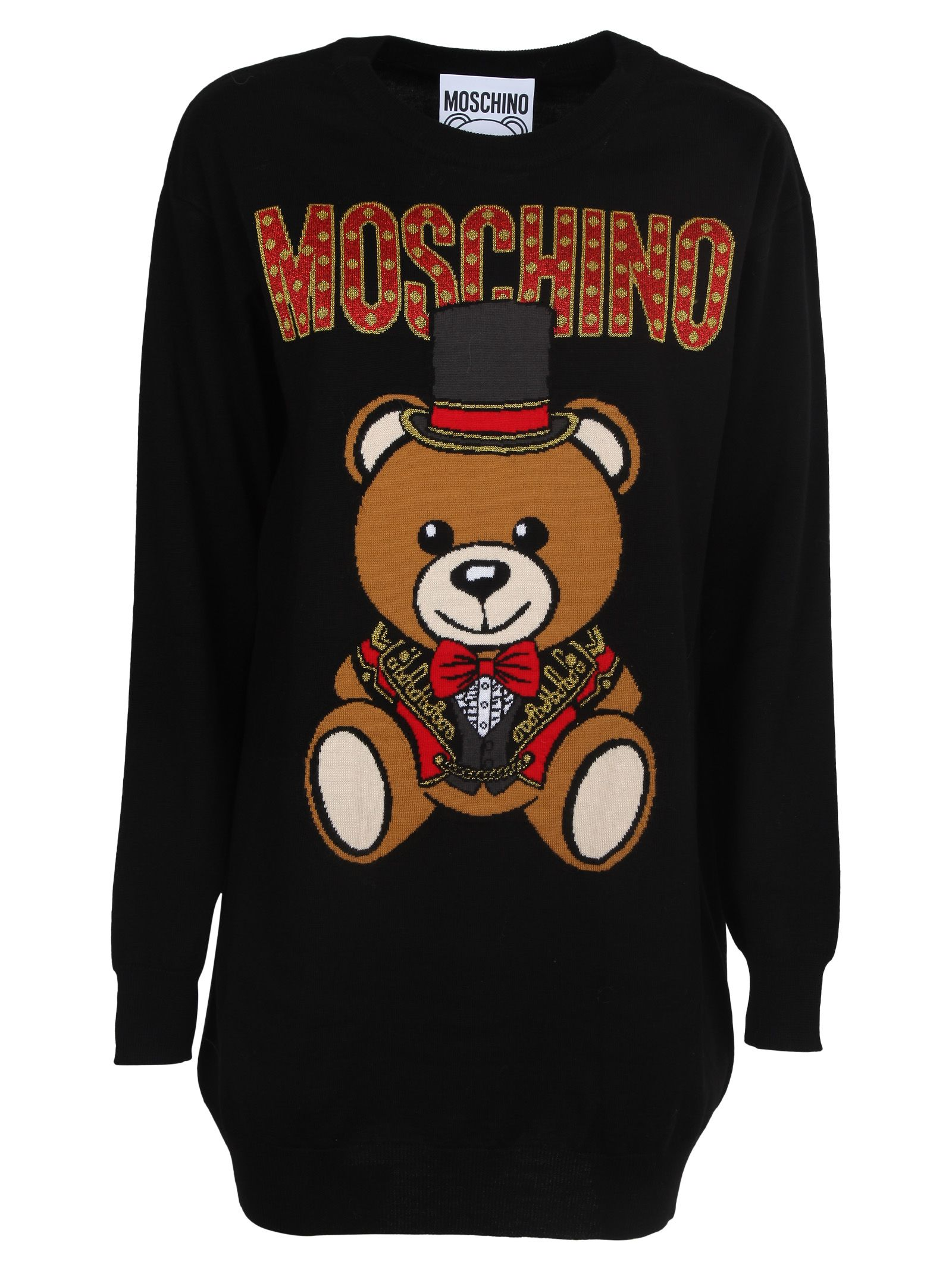 Moschino Teddy Bear Knit Sweater Dress