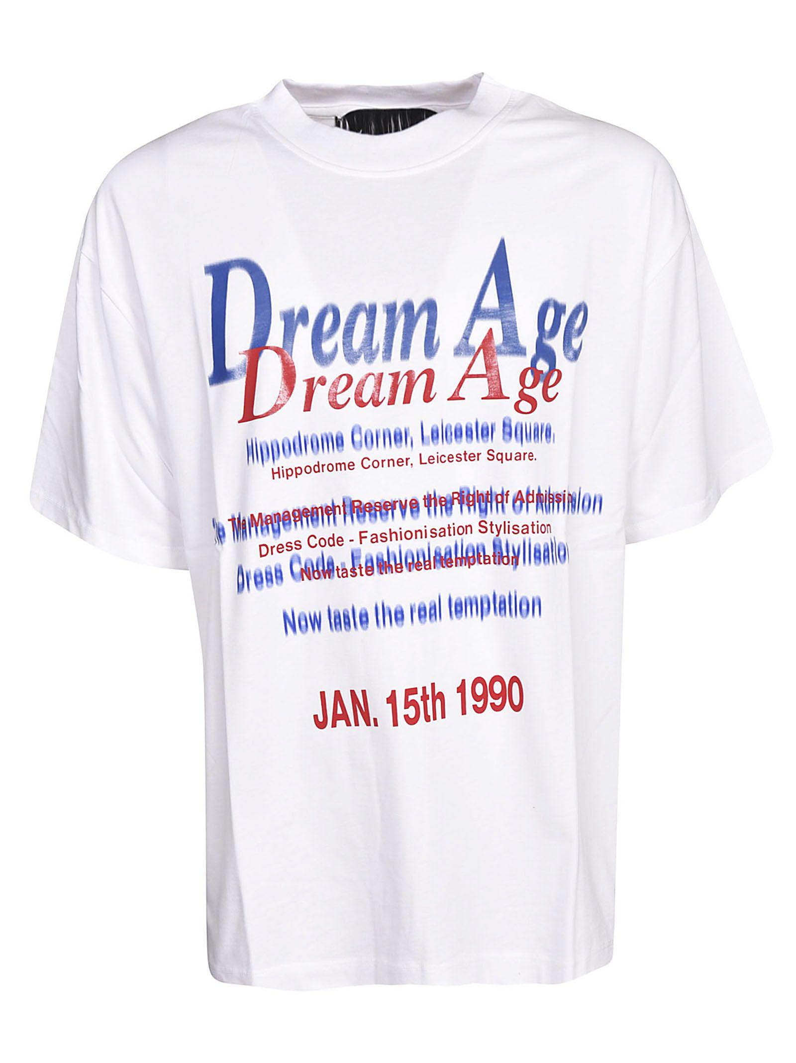 Martine Rose Front Script Printed T-shirt