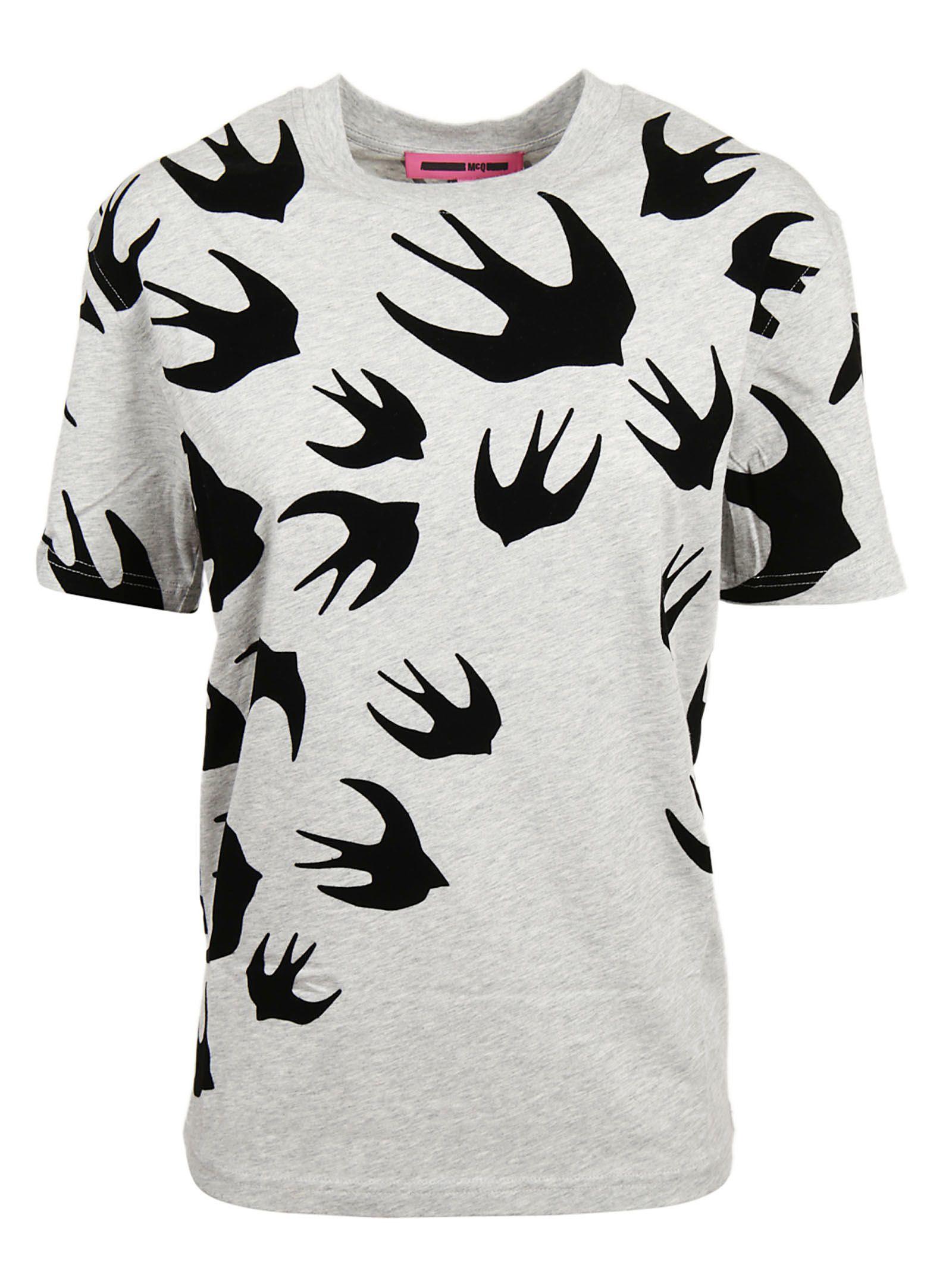 Mcq Alexander Mcqueen Alexander Ueen Swallow Swarm T-shirt