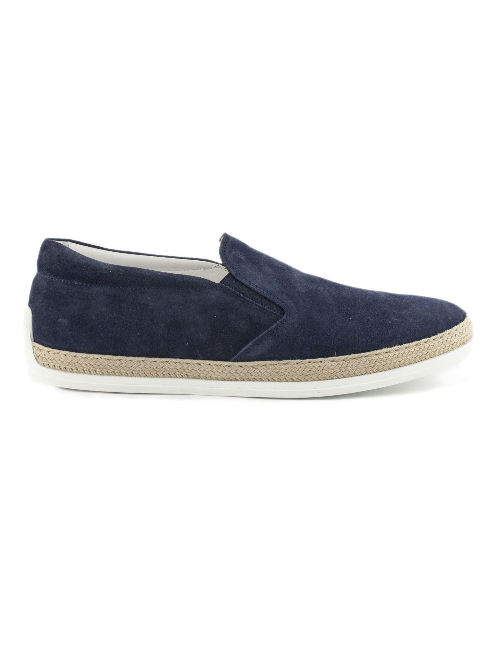 Tod's Slip-on In Blue Suede