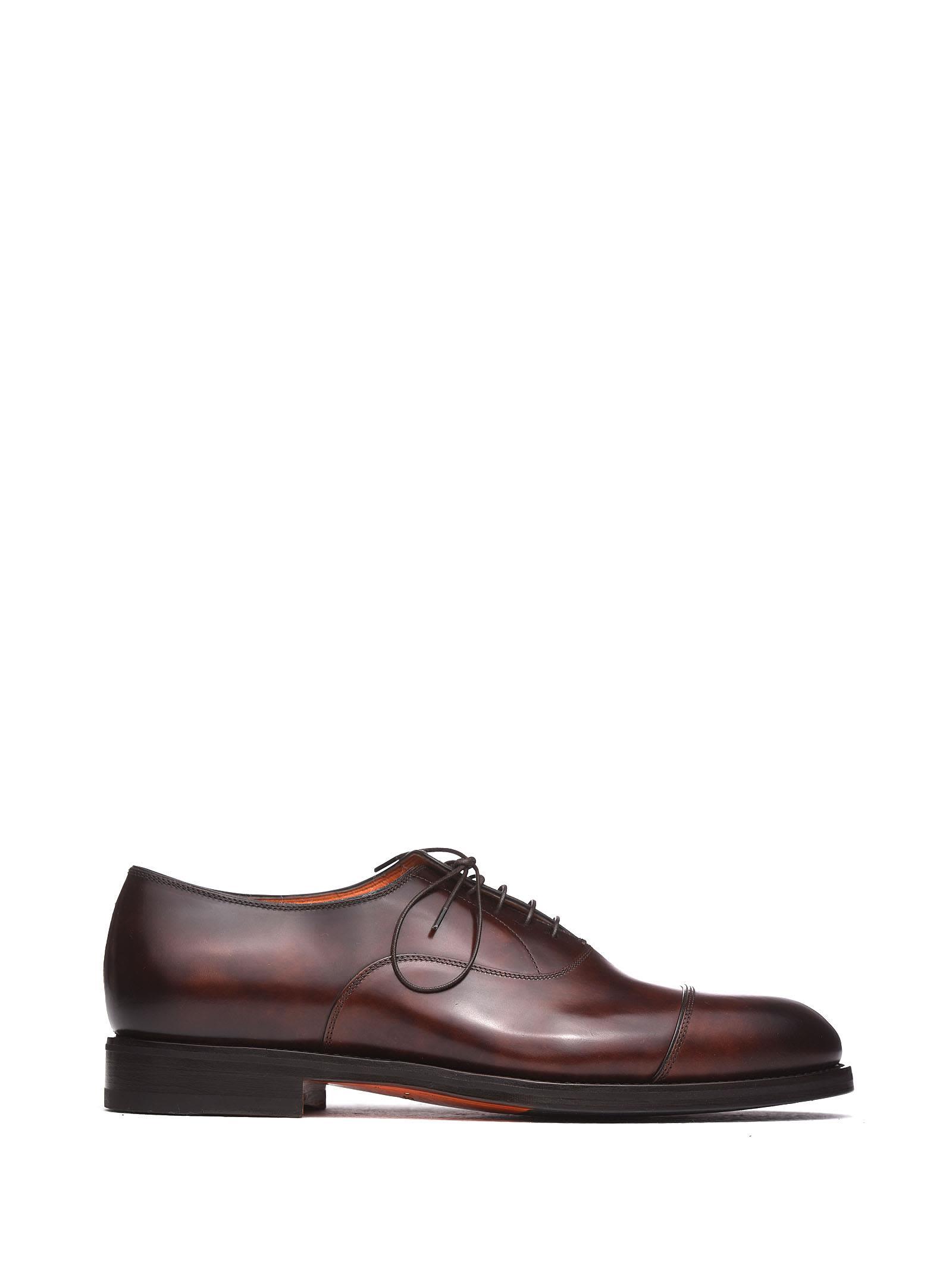 Santoni Brown Oxford Shoes
