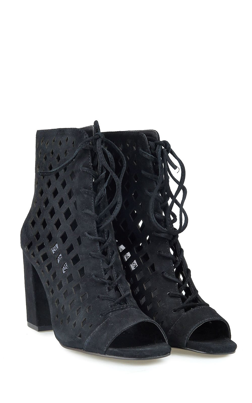 Steve Madden Denay Suede Caged Ankle-boots