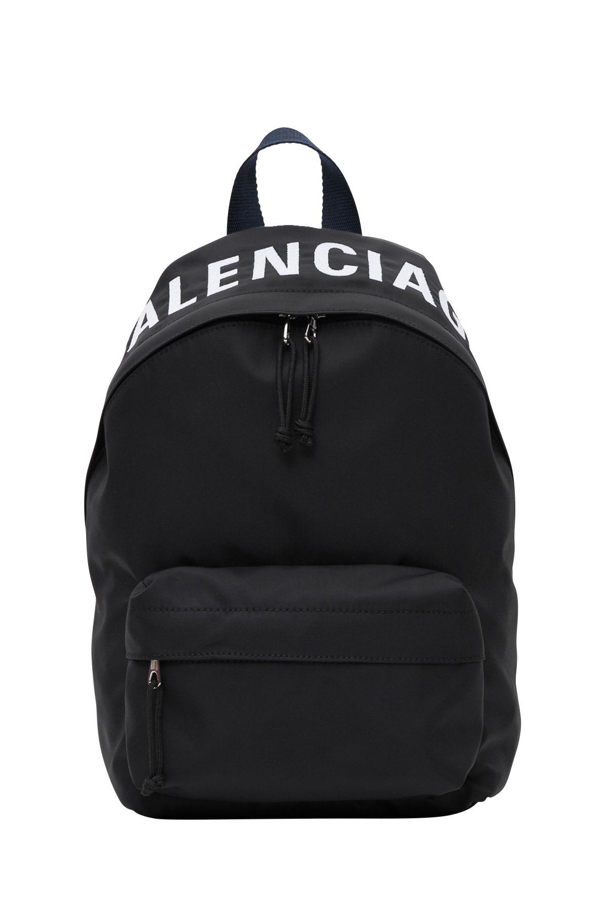 14f0c3555a984e Balenciaga Wheel Logo Embroidered Nylon Backpack | £601.68 | Grazia
