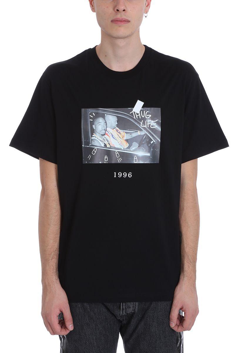 Throw Back 2 Pac Black Cotton T-shirt