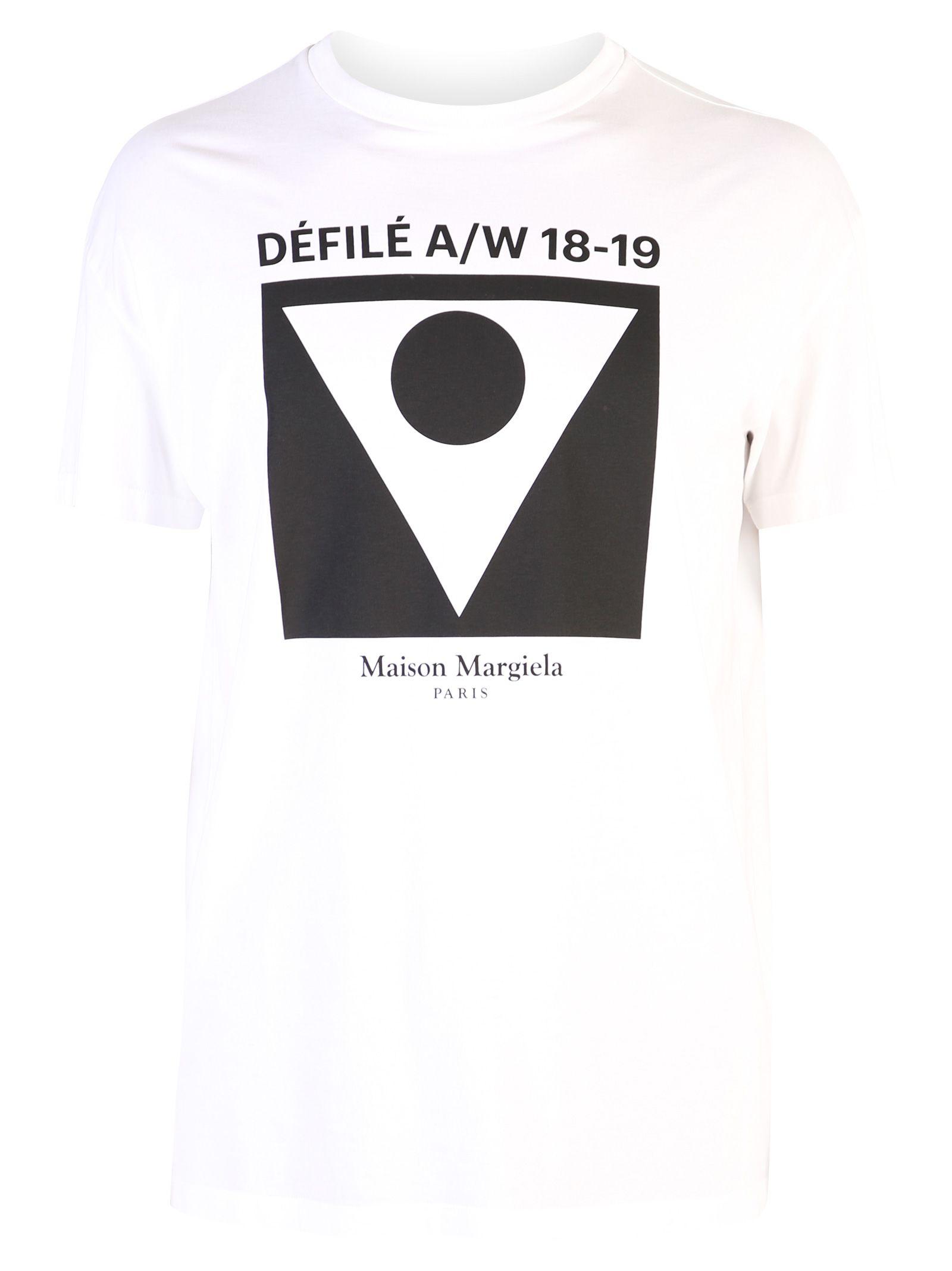 Maison Margiela White Front Print T-shirt