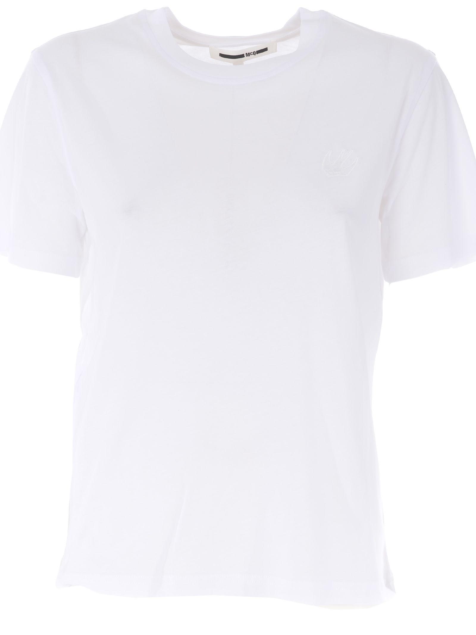Mcq Alexander Mcqueen Embroidered Swallow T-shirt