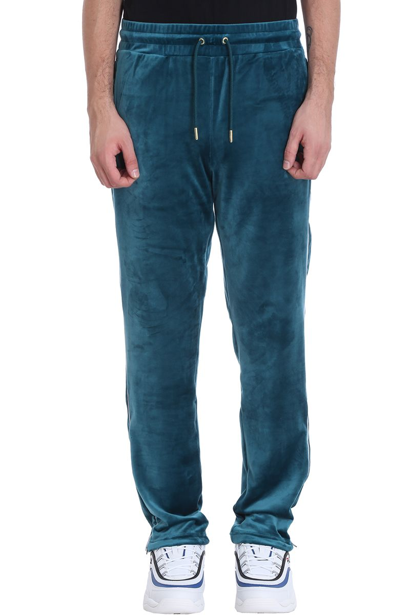 Fila Water-green Velvet Cyrus Track Trousers