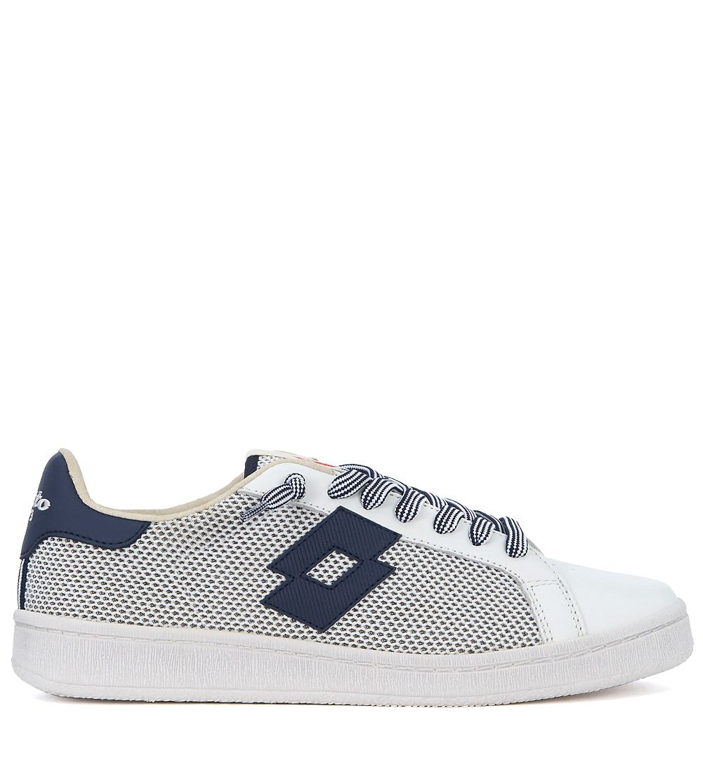 Lotto Leggenda Autograph Blue And White Leather And Mesh Sneaker