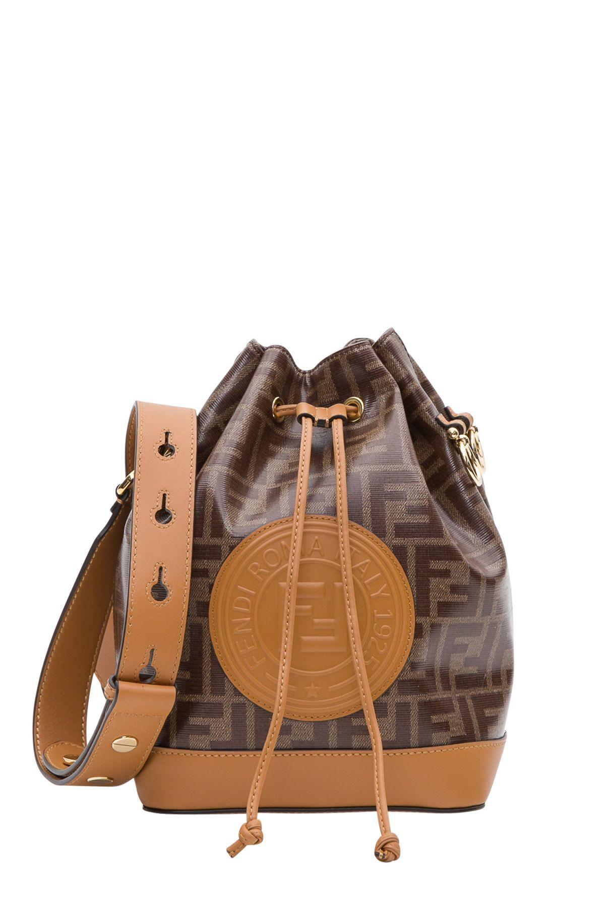 06e6a30b58b Shop Fendi Mon Tresor Bucket Bag In Marrone