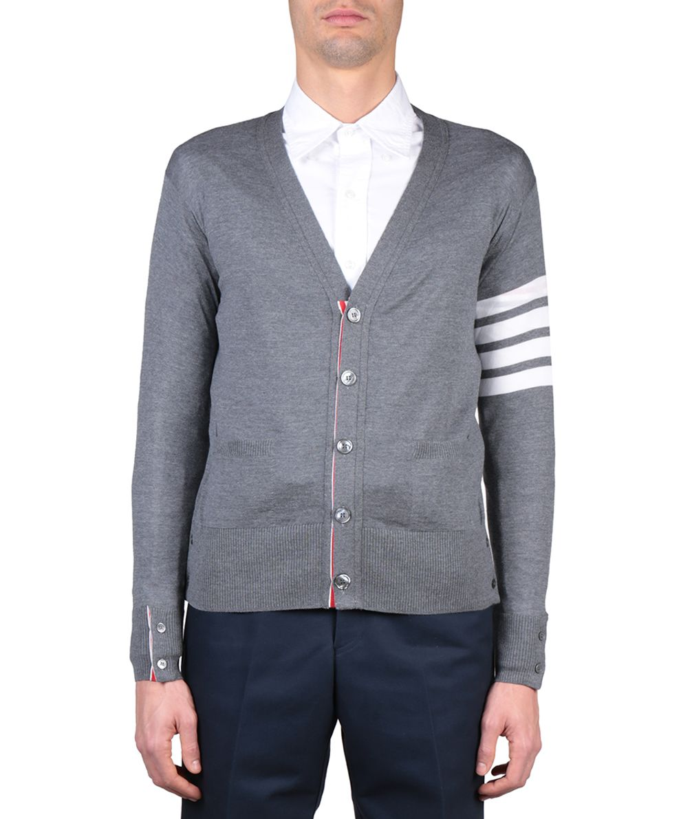 Thom Browne Merino Wool Striped Cardigan