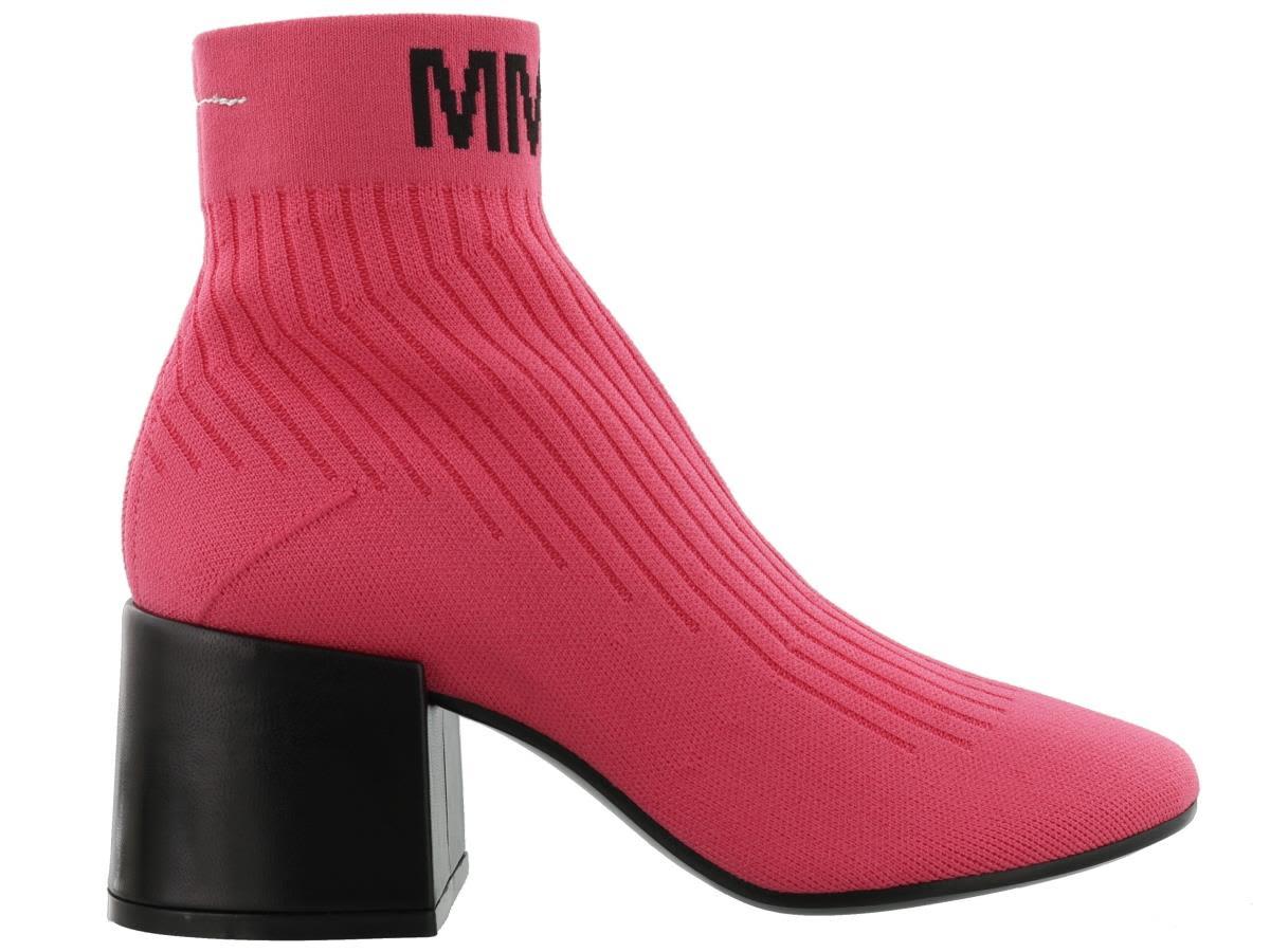 Mm6 Maison Margiela Logo Ankle Boot
