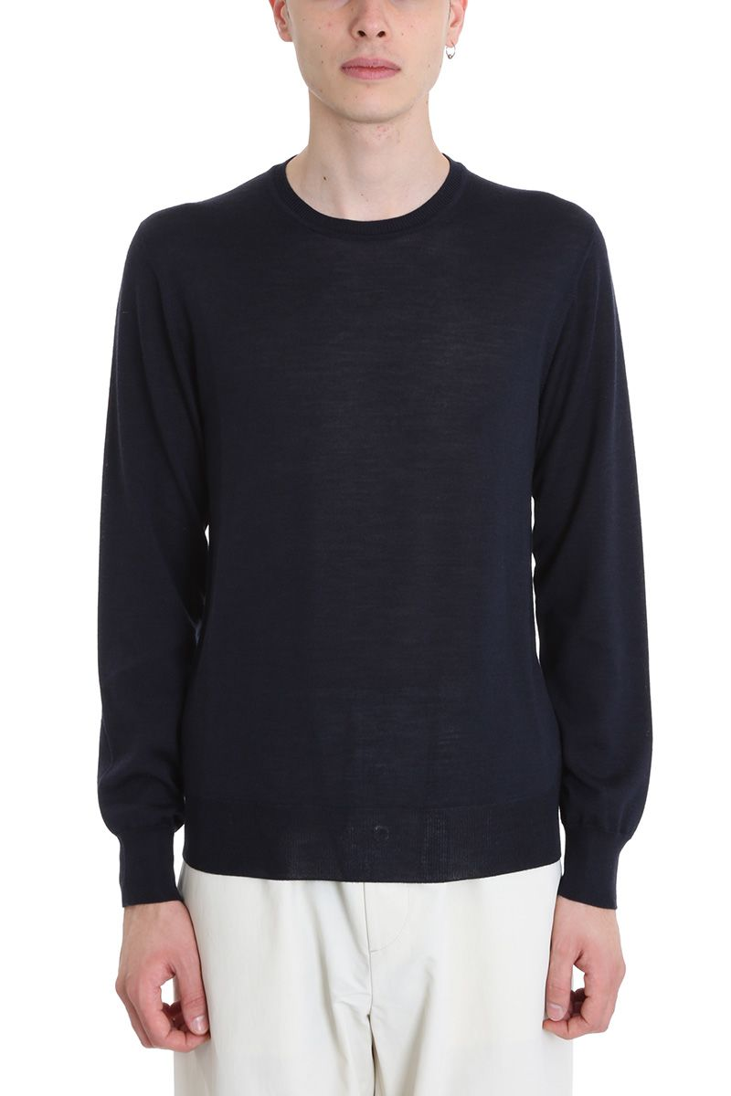 Jil Sander Blue Wool Sweater
