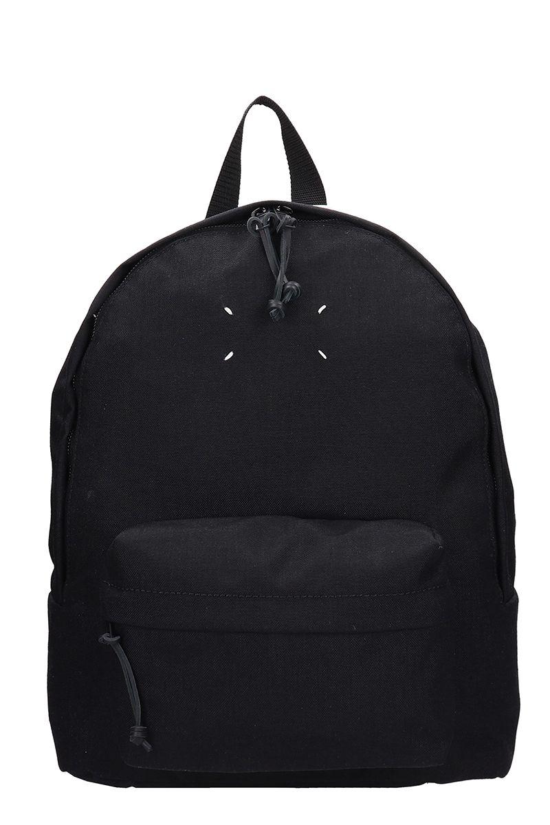 Maison Margiela Blakc Fabric Backpack