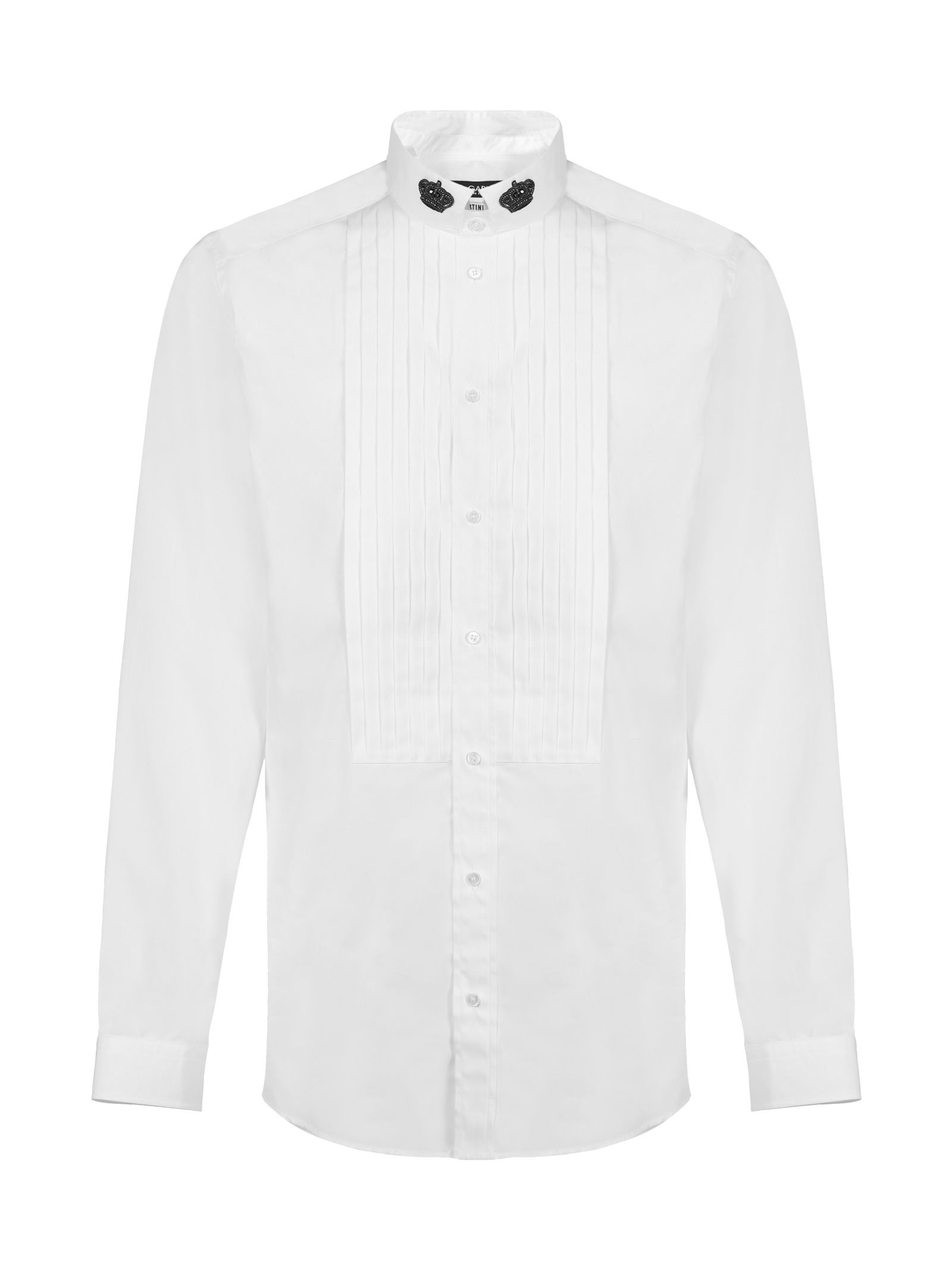 Dolce & Gabbana Tuxedo Pleated Detail Shirt
