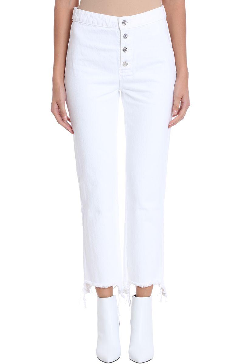 RTA Army White Denim Jeans