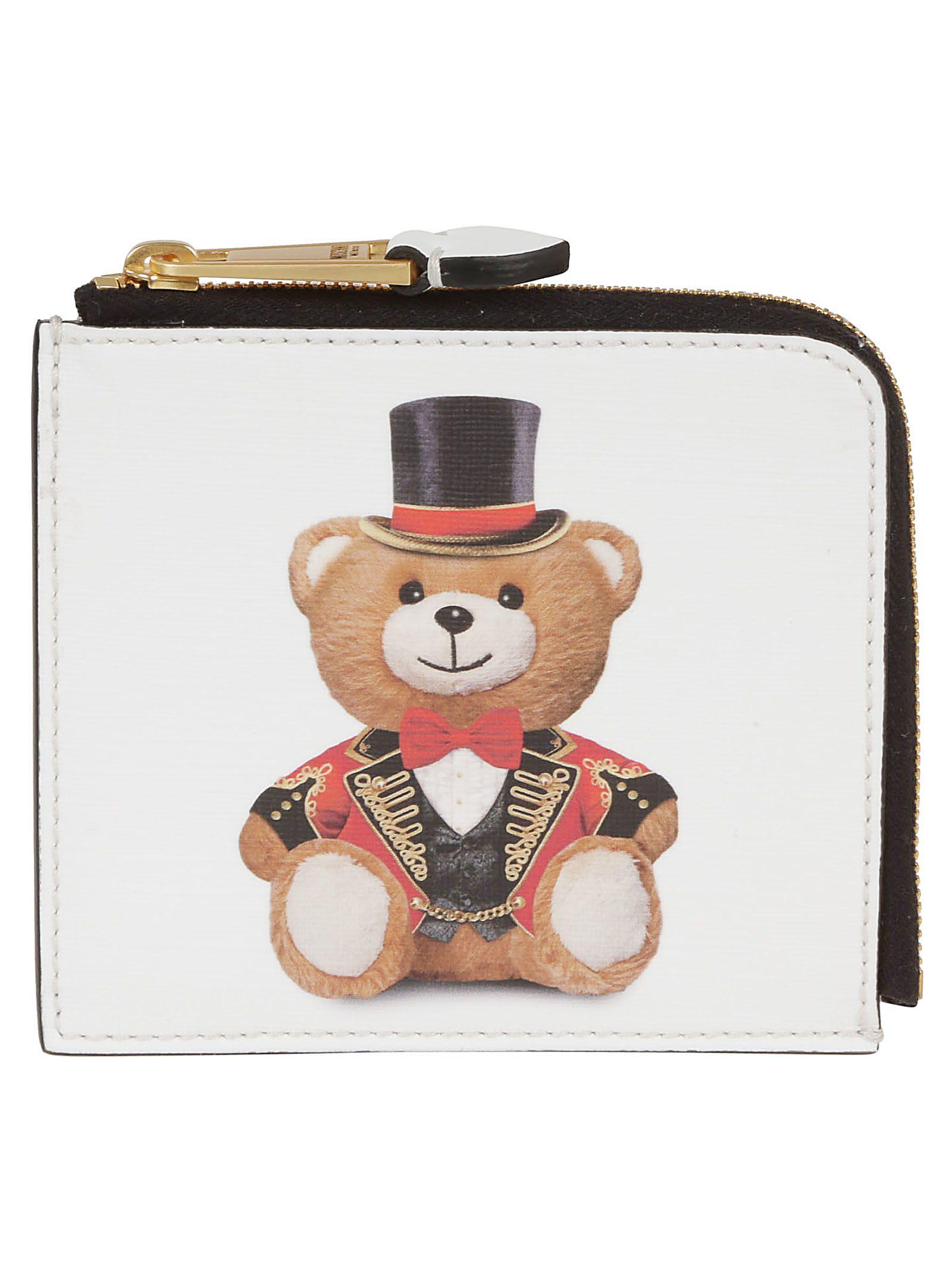 Moschino Teddy Bear Print Wallet