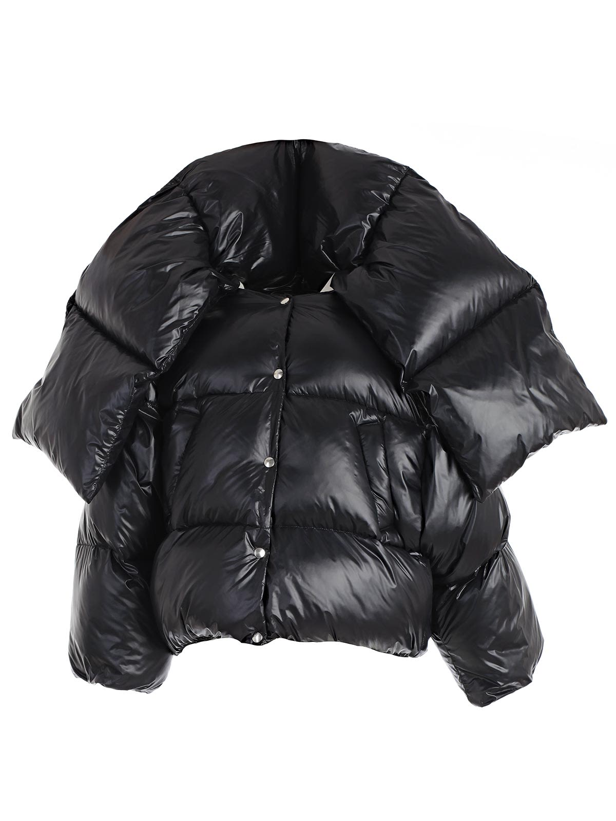 hache -  Scarf Tie Puffer Padded Jacket