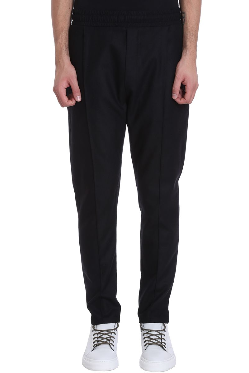 Low Brand Black Wool Pants