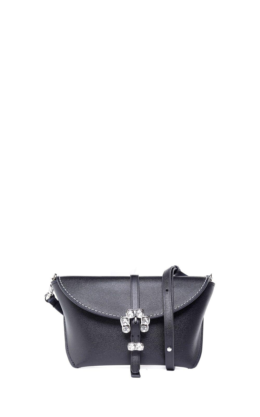 3.1 Phillip Lim Hudson Crystal-embellished Leather Cross-body Bag