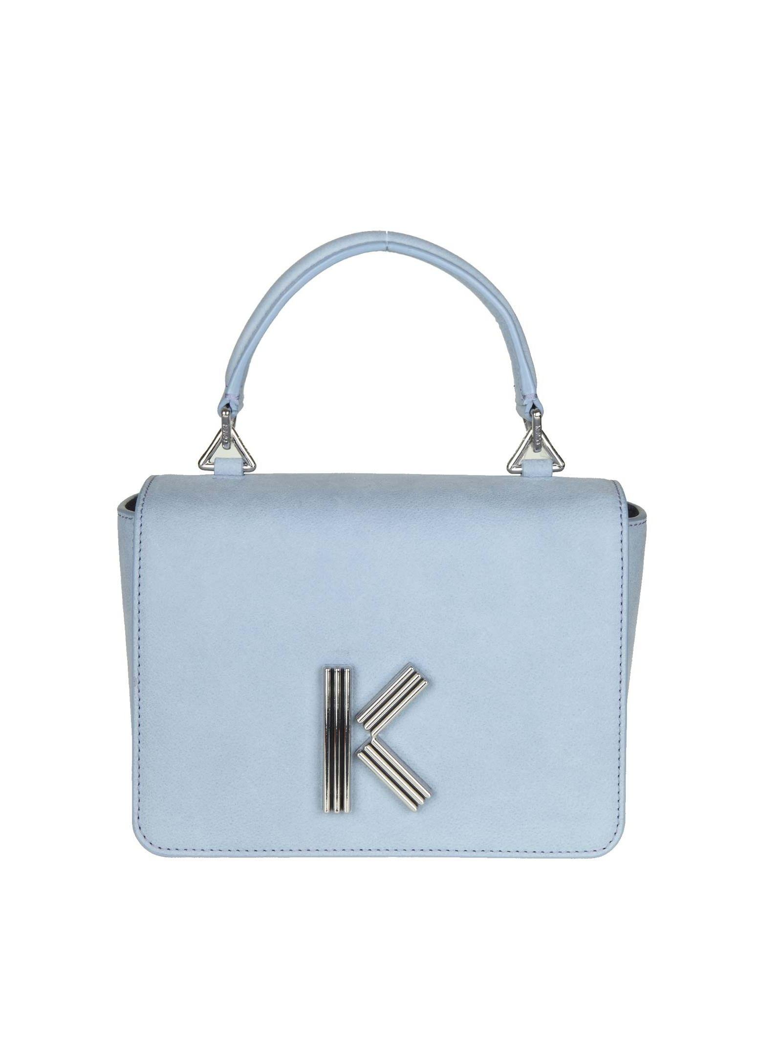 Kenzo K-bag In Nabuk Blue Lavender