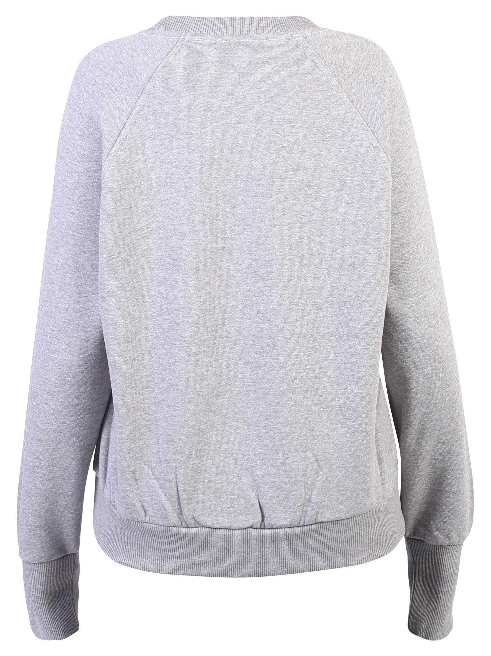 Burberry Embroidered Cotton Blend Sweatshirt