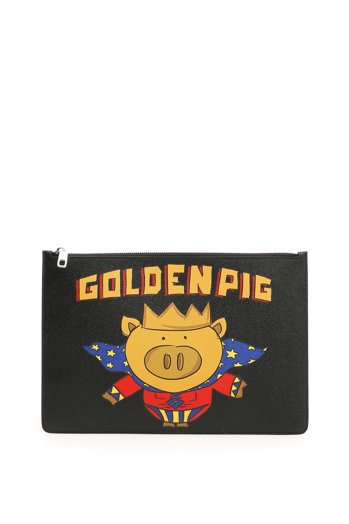 Dolce & Gabbana Golden Pig Document Holder