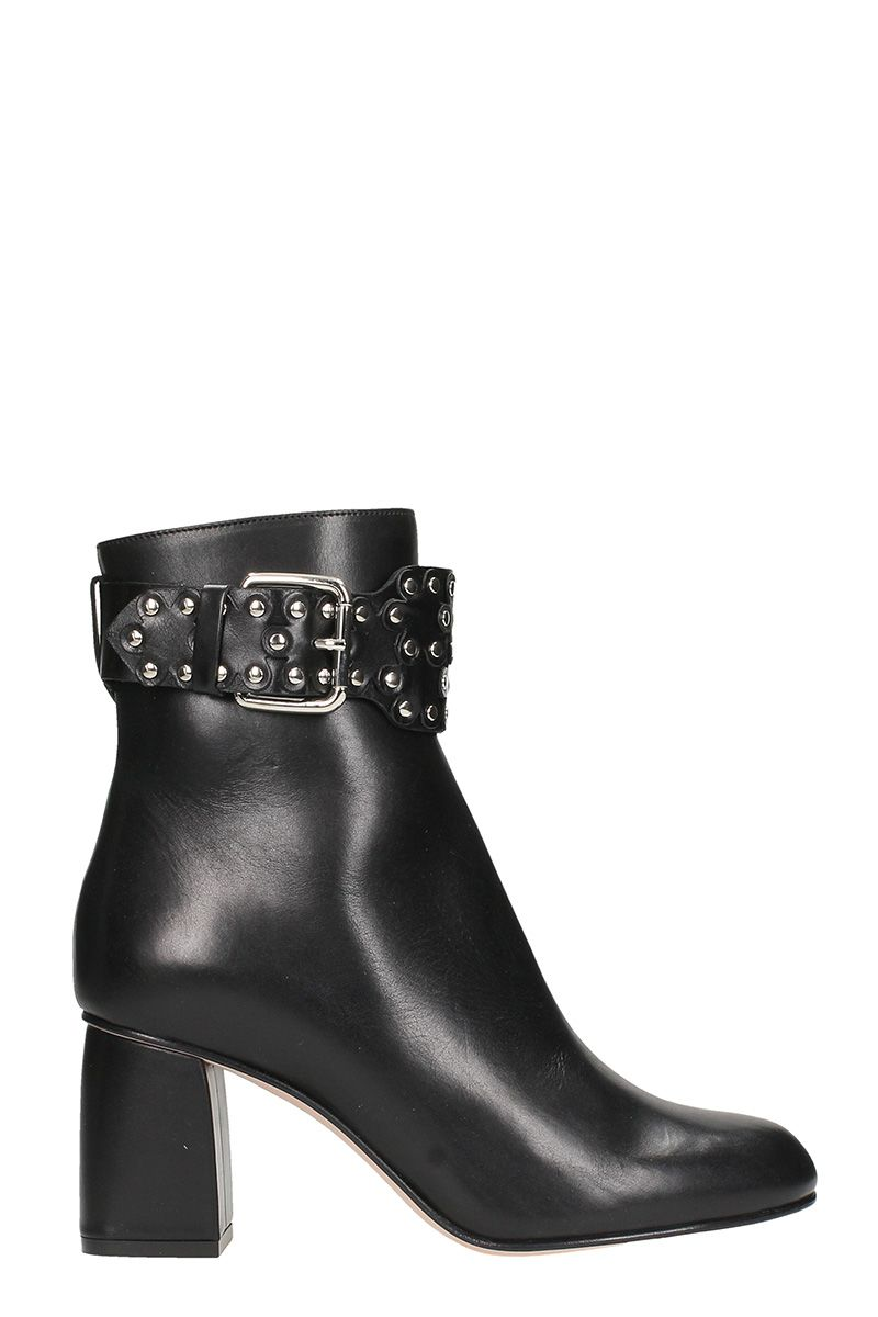 RED Valentino Black Ankle Boots
