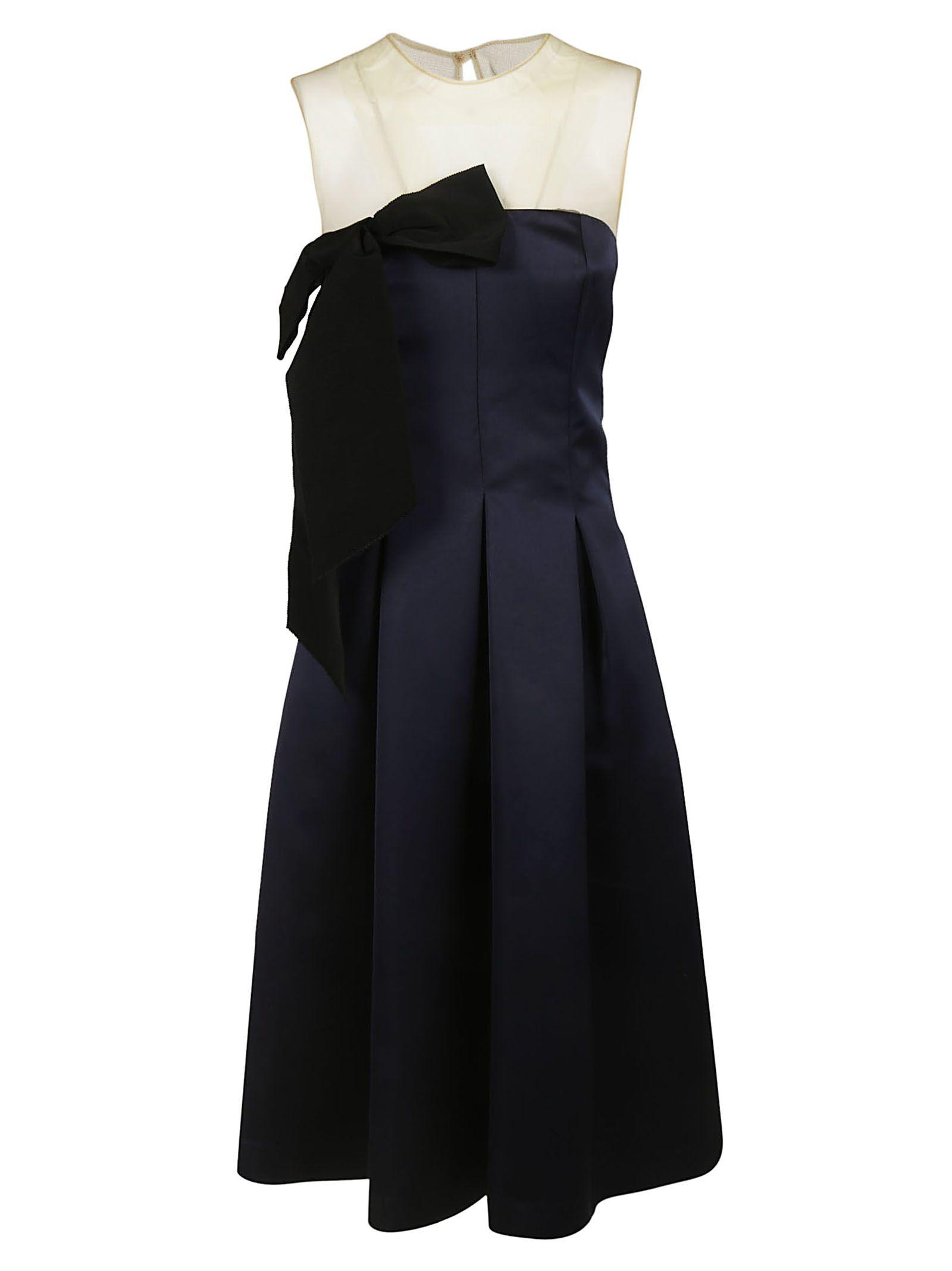 Parosh Mesh Panel Dress