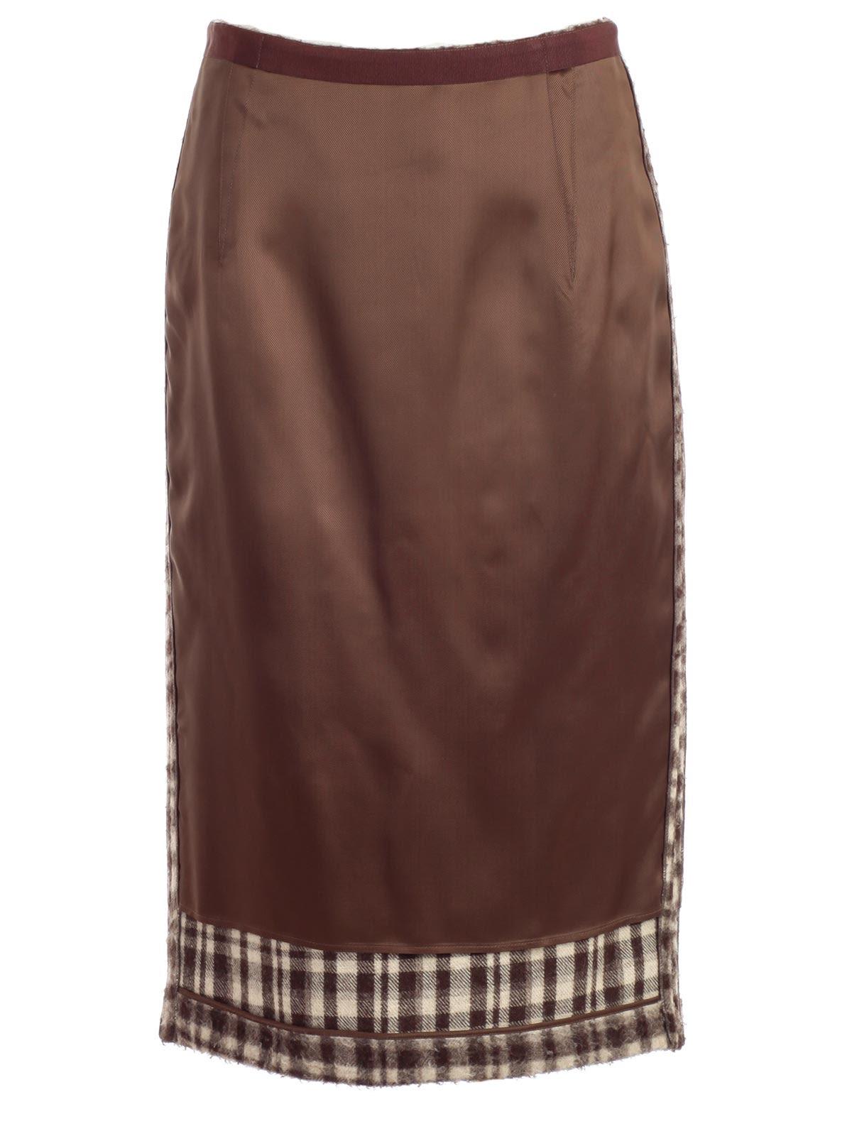 Erika Cavallini Check Insert Skirt