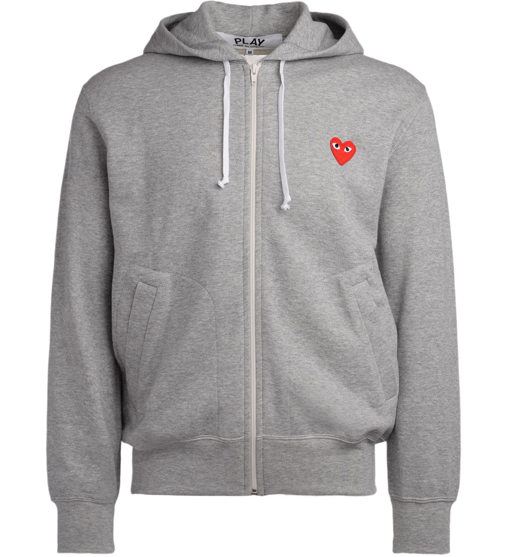 Comme Des Garcons Play Grey Fleece With Red Heart