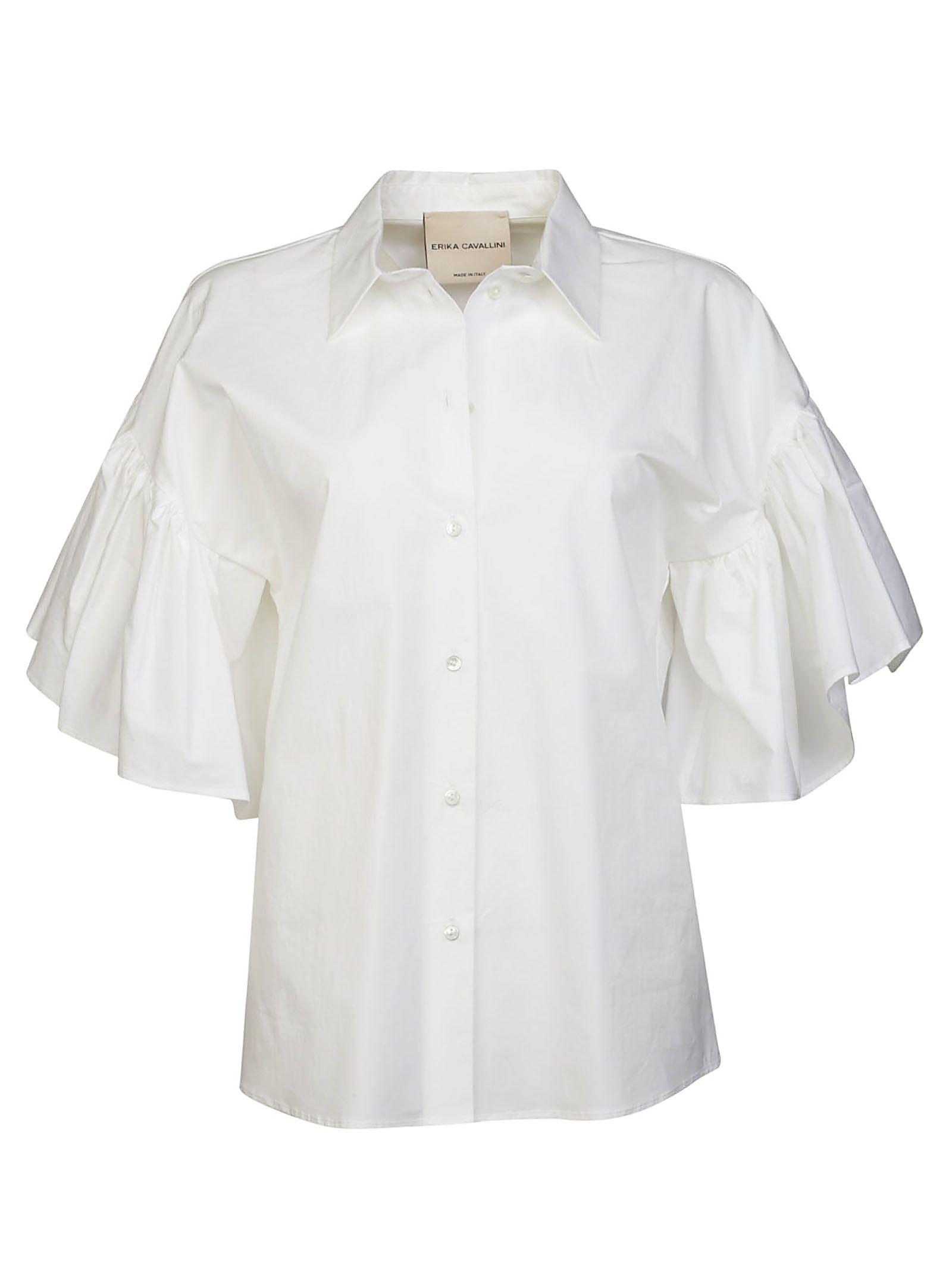 Erika Cavallini Ruffled Sleeves Shirt