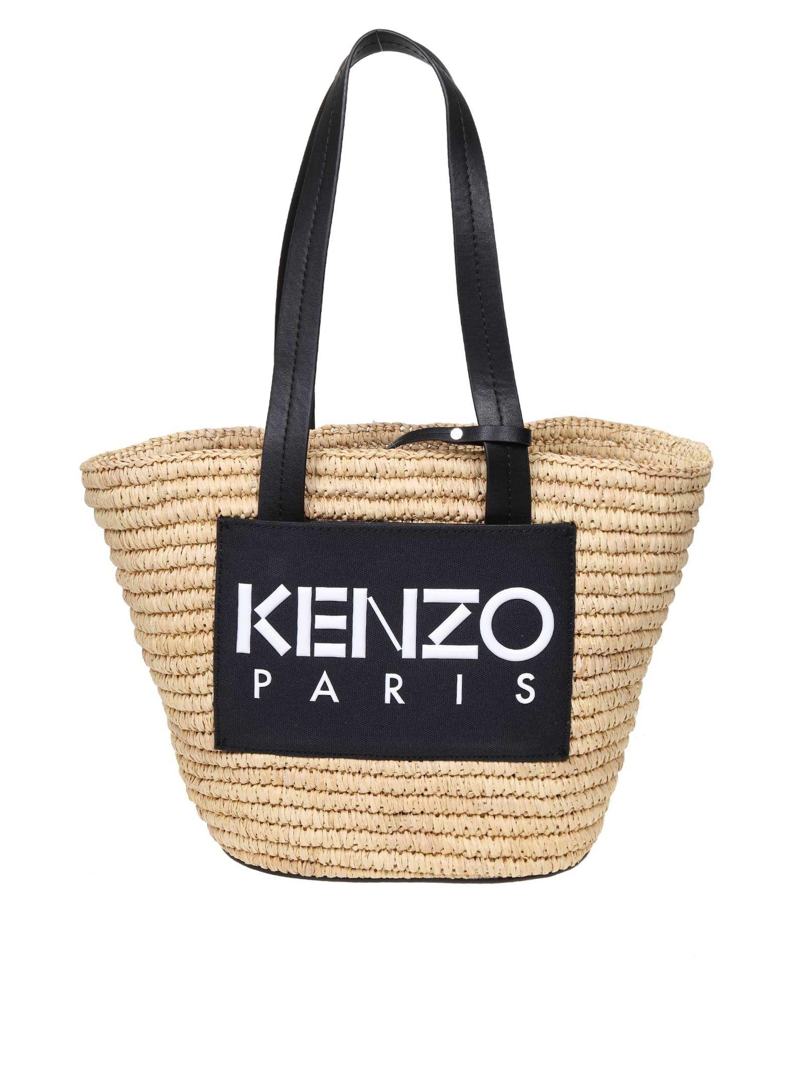 Kenzo Shopping In Rafia Summer Basket