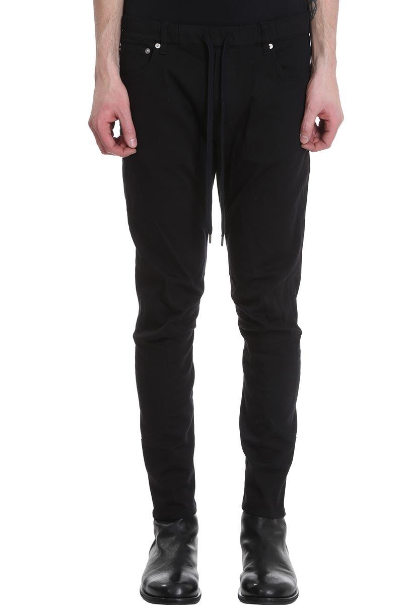 Attachment Biker Black Denim Jeans
