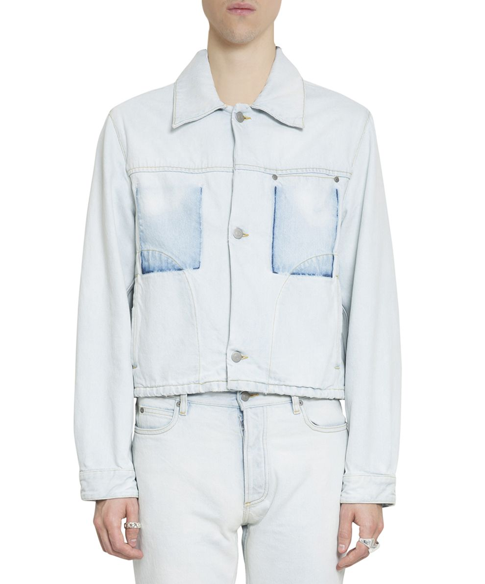 Maison Margiela Shadow Pockets Bleached Denim Jacket