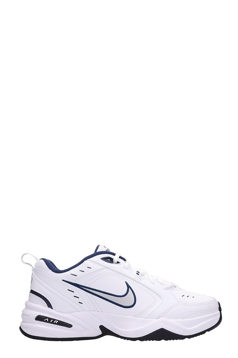 nike -  Air Monarch White Leather Sneakers